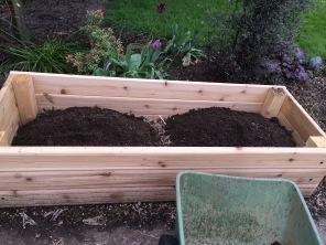 The first two wheelbarrow loads