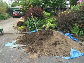 Hardly a dent in the pile 'o dirt!