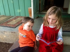 Amelia forgets she's reading to Bax and not herself.