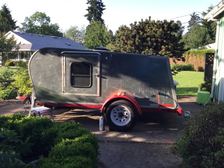Our handcrafted, artisan teardrop trailer.