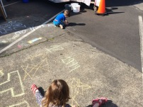 Chalk for the kids to draw with, yay!