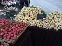 Potatoes and baby turnips