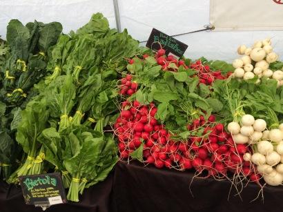 Greens, radishes, and turnips