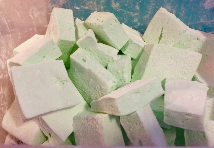 Minty marshmallows for gourmet s'mores!