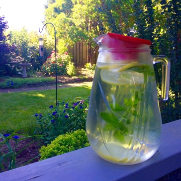 Refreshing lemon-mint water