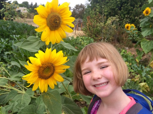 Which is more sunny, the smile or the flower?